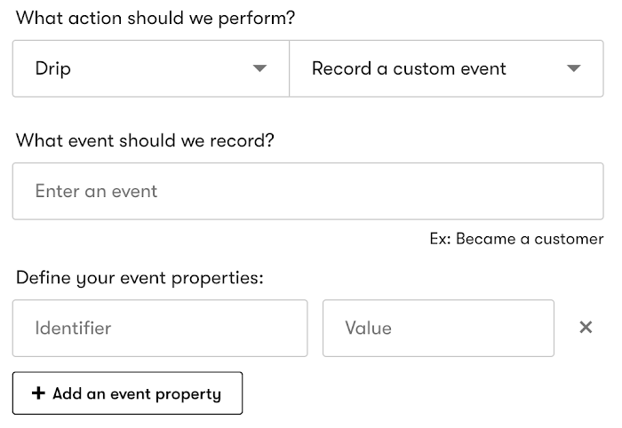 Record a custom event