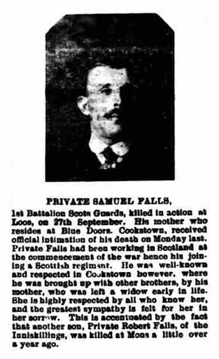 Samuel Joseph Falls newspaper clipping