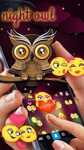 Night Owl keyboard Theme - náhled