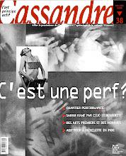 Photo: © Olivier Perrot Couverture Cassandre 38 http://www.horschamp.org