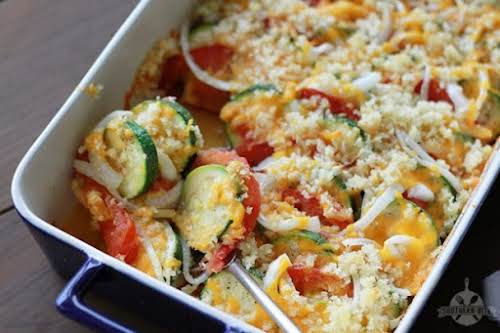"""Click Here for Recipe: Zucchini and Tomato Bake """"Y'all, this Zucchini and..."""