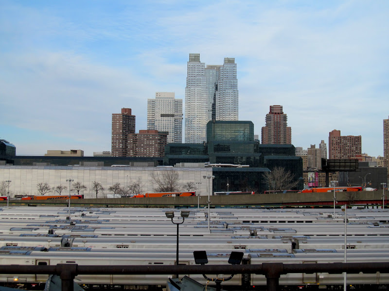 Photo: The city over the rail yard