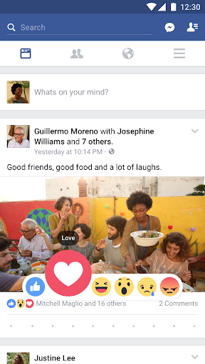 Facebook app (apk) free download for Android/PC/Windows screenshot
