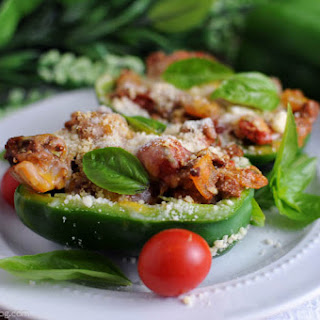 30 Minute Stuffed Cheesy Italian Peppers