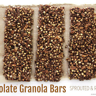 Crunchy Chocolate Granola Bars | Sprouted & Raw Vegan.