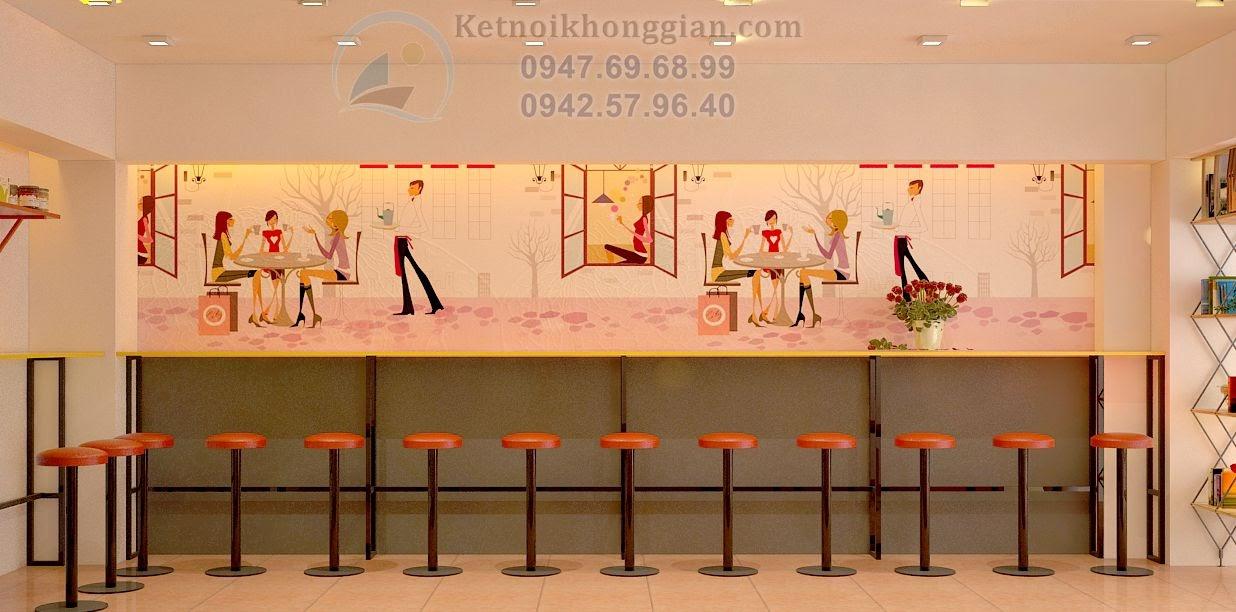 thiết kế cửa hàng ăn nhánh, trang trí cửa hàng