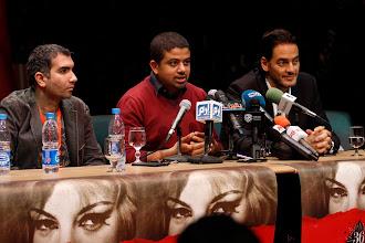 Photo: The Press Confrence of Decor at CIFF Nov. 2014, Cretic Joe Fahim, Ahmad Abdalla, Khaled Abol Naga. at Cairo Opera House.
