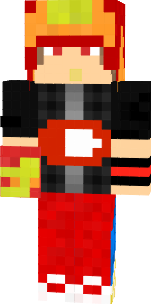 if you mostly play 1.7.10 (i do some times.) and have animated player mod: this skin will work well. (skin is made by the youtuber himself. NOTE: there will be another skin just like this but bigger eyes. (wont work on animated player mod)