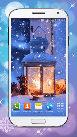 android Hiver Fond D'écran Animé Screenshot 0