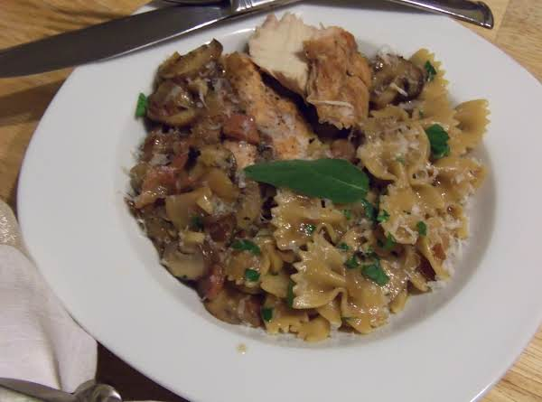 Grilled Chicken Marsala And Farfalle Recipe