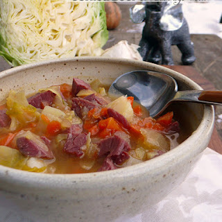 Corned Beef & Cabbage Stew.
