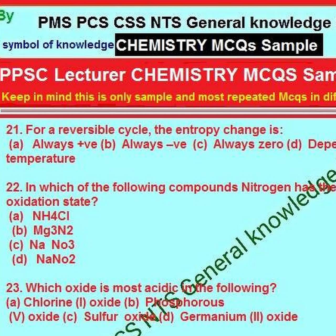 PPSC PAST PAPERS - PPSC, FPSC, NTS, OTS, SPSC, AJKPSC, KPPSC
