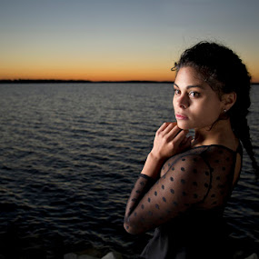 Portrait at twilight by Drew Tarter - People Portraits of Women ( fashion, sunset, women, people, portrait )