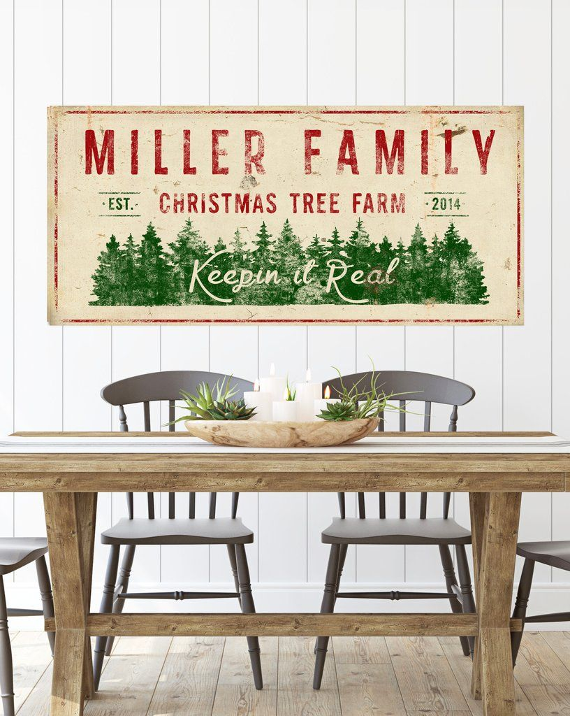 Personalized Christmas Canvas Wall Decor Ideas