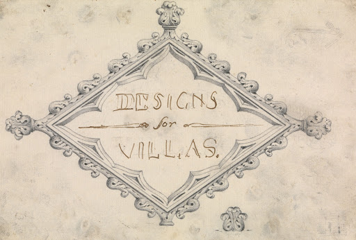 "Preparatory drawing for the Title page, ""Designs for Villas"" (A Collection of Designs for Rural Retreats)"