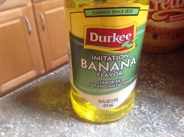 Now add in the Banana flavoring, it added lots of banana flavor & stir...