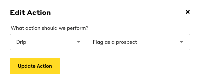 Flag as a prospect action.