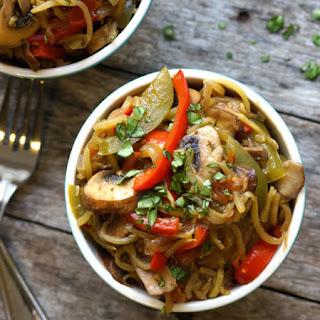Cajun Zucchini Noodle Pasta (Vegan, Paleo).