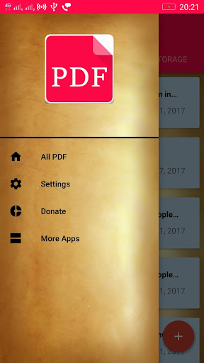 Ekstar Pdf Reader app for Android screenshot