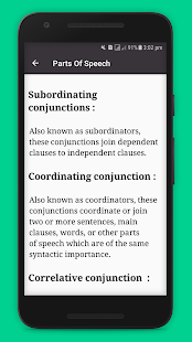 Parts Of Speech in English With Examples Screenshot