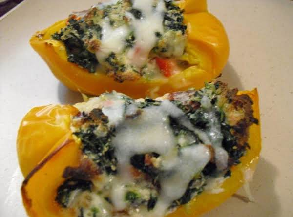 Spinach & Ricotta Stuffed Peppers Recipe