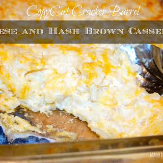 CopyCat Cracker Barrel Cheese and Hash Brown Casserole.
