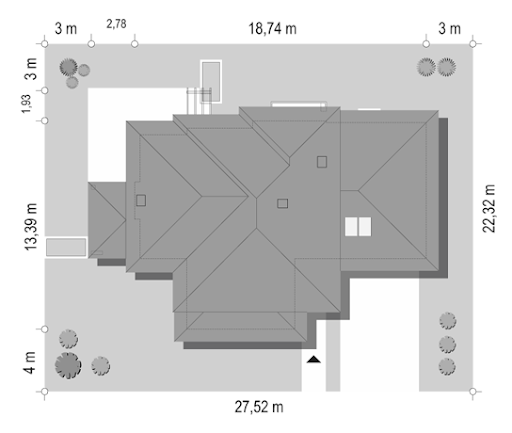 Dom z widokiem 6 - Sytuacja