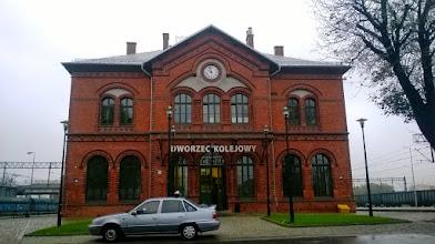 Photo: Kluczborski dworzec tuż obok płynie Stobrawa