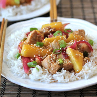 Sweet and Sour Stir-Fried Chicken.