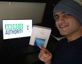 Photo: Sunday giveaway winner Arjun showing off his new Pixel XL.
