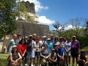 Photo: Our Guatemala tour group in Tikal. Rodney in the center, Victor below to the right.