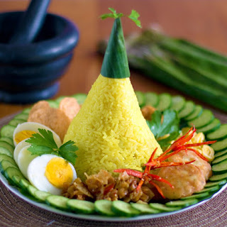 Nasi Kuning/ Yellow Rice for Nasi Tumpeng