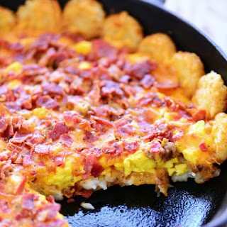 Tater Tot Breakfast Pizza.