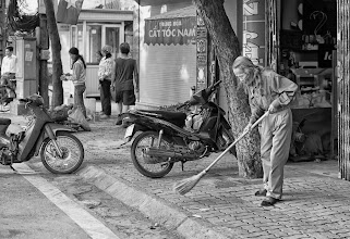 Photo: cleaning in the morning