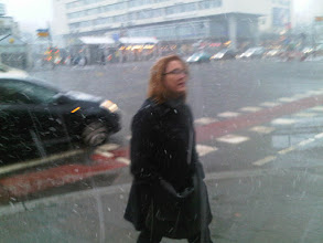 Photo: Pamela in the Berlin Snowfall