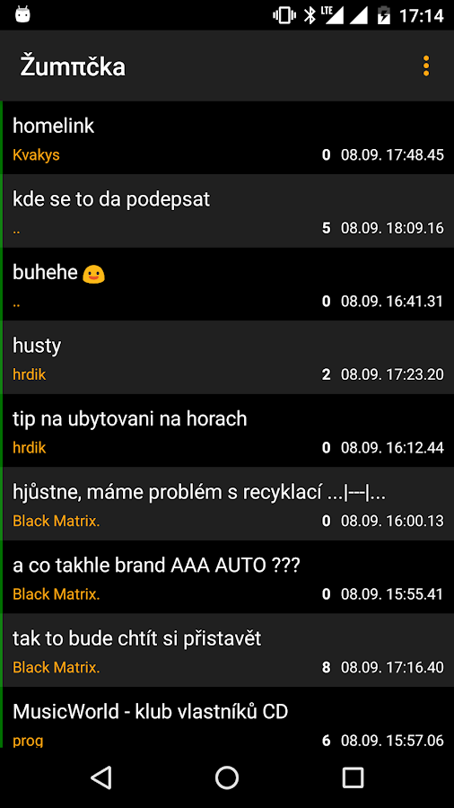 Žumpa Reader- screenshot