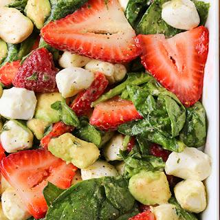 Strawberry Avocado Mozzarella Salad