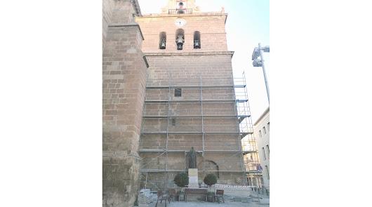 Las obras en la torre de la Catedral toman la Plaza