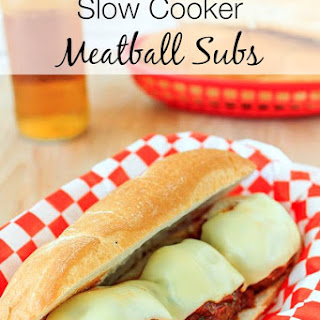 A Super Easy Slow Cooker Meatball Subs