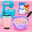 Cooking and Baking : Strawberry Ice Cream Sandwich icon