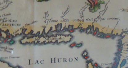 Photo: This is another French Map of North Shore that I found at the Clerque and Ermatinger Heritage Centre in Sault Ste. Marie.
