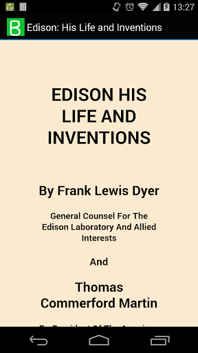 Edison: Life and Inventions