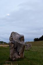Photo: Avebury stones in the moonlight