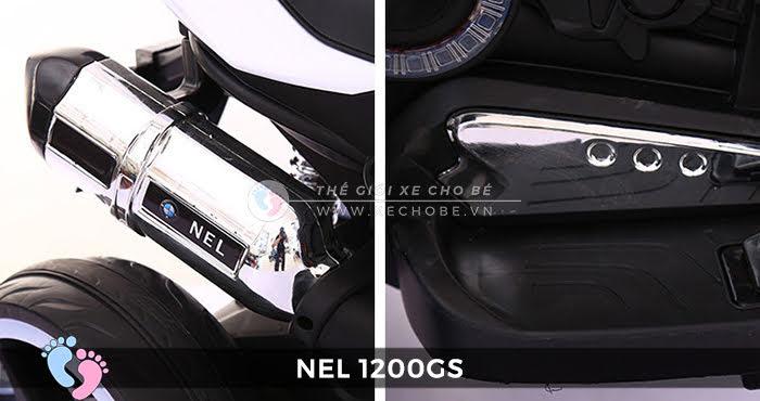 chi tiết xe máy điện cho bé NEL-1200GS