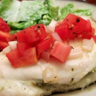 Pesto Bruschetta Baked Chicken