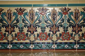 Photo: Barron Kitchen - Decorative Tile Close-Up Pvt. Residence W. Los Angeles, CA