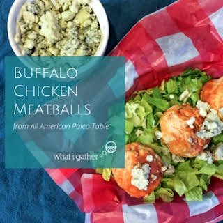 Buffalo Chicken Meatballs from All American Paleo Table.
