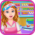Shopping Supermarket Manager Game For Girls icon