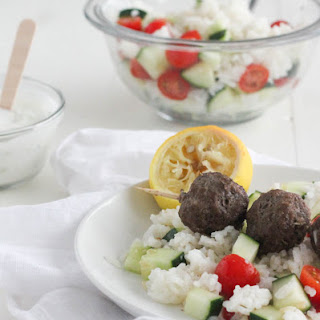 Gyro Meatballs with Lemon Rice