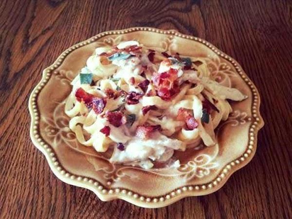Garlic Bacon And Chicken Linguine Recipe